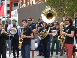 international jazz day street parade